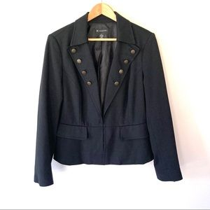 INC Military Inspired Black Blazer